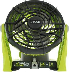 Ryobi P3320 18 Volt Hybrid One+ Battery-Powered Adjustable Indoor/Outdoor Fan